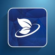 leaf icon symbol nature vector sign element - stock illustration