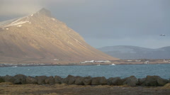 Volcanic landscape in Iceland Stock Footage