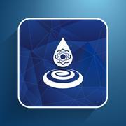 chemical icons icon drop water element formula symbol atom gene - stock illustration