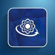 Molecular compound vector icon chemistry, molecular, medical Stock Illustration