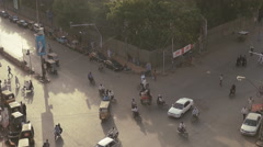 Hustle and Bustle of Karachi Stock Footage