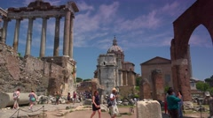 ULTRA HD 4K real time shot,The Roman Forum in the city of Rome. Stock Footage