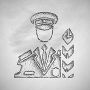 Stock Illustration of customs inspector icon