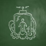 time machine icon - stock illustration