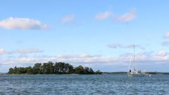 Sailboat in Finland Stock Footage