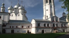 The ensemble of buildings of the Vologda Kremlin Stock Footage