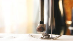 Work old sewing machines. Stock Footage