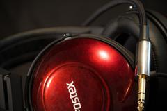 Headphone HD close up macro DJ Stock Photos