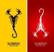 Scorpion. Artistic Scorpion - stock illustration