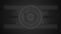Abstract white geometrical form animation on dark grey background Stock Footage