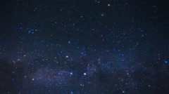 Perseid Meteor Shower. Milky Way Galaxy Star Time Lapse. Stock Footage
