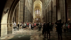 St. Vitus Cathedral St. Czech Republic Stock Footage