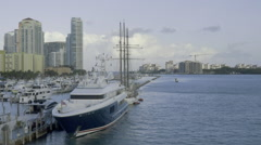Miami Beach Marina Stock Footage