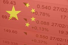 Chinese stock market Kuvituskuvat