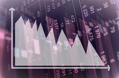 Downtrend diagram Stock Photos