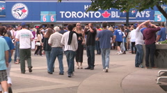 Toronto Blue Jays major league baseball fans during the playoffs Stock Footage
