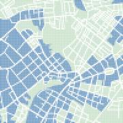 Halftone street map Stock Illustration