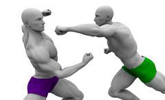 Self Defence or Self Defense Stock Illustration