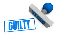 Stock Illustration of Guilty Stamp
