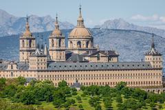 Stock Photo of The Royal Seat of San Lorenzo de El Escorial, historical residence of the Kin