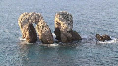 Rocks in the sea,three Stock Footage