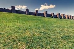 Scenic medieval city walls of Avila, Spain, UNESCO list Stock Photos