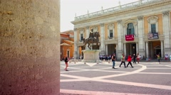 ULTRA HD 4K real time shot,Piazza del Campidoglio in Rome Stock Footage