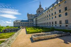 Royal Monastery of San Lorenzo de El Escorial near Madrid, Spain Stock Photos