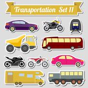 Set of all types of transport icon  for creating your own infographics or map Stock Illustration