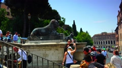 ULTRA HD 4K real time shot,The Capitoline Hill,Rome Stock Footage