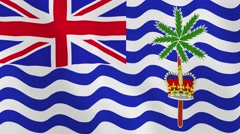 Loopable: Flag of British Indian Ocean Territory Stock Footage