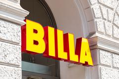 Billa Supermarket In Vienna Stock Photos
