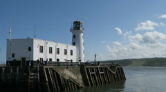 Scarborough lighthouse Stock Footage