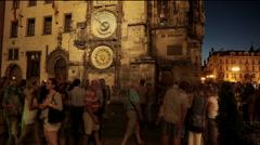 Prague Astronomical Clock Staroměstské nám. Stock Footage