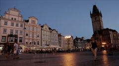 Old Town Square Staroměstské nám Stock Footage