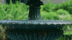 Stock Video Footage of Water coming out of fountan, CU, Slo mo, tilt up, French Quarter, New Orleans,