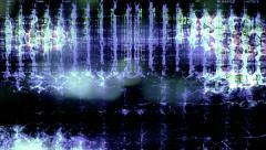 Abstract digital data forms pulse and flicker - Video Background 2222 HD, 4K Stock Footage