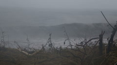Stock Video Footage of Strong currents at beach during typhoon 2 slow motion