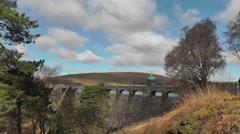 Craig Goch dam in the Elan Valley, Wales Stock Footage