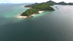 Koh Larn island tropical beach,the most famous island of pattaya city Stock Footage