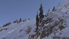 Ski Crash Stock Footage