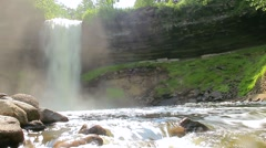 Minnehaha Falls Low Angle Stock Footage
