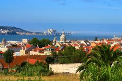 Landscape of Lisboa, Portugal. - stock photo