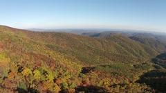 Blue Ridge Mountains In Autumn Stock Footage