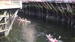 Creek Street ,Kayaks, Ketchikan , Alaska Stock Footage