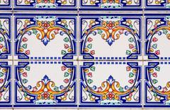 Traditional ancient ceramics. Lisbon, Portugal Stock Photos