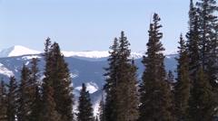 Winter Mountain Pan Stock Footage