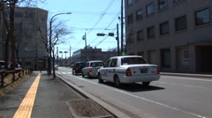 Cars in a street in Japan Stock Footage