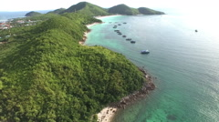 Koh Larn island tropical beach,the most famous island of pattaya city Stock Footage