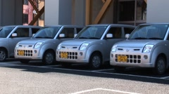 Nissan Cars in Japan Stock Footage